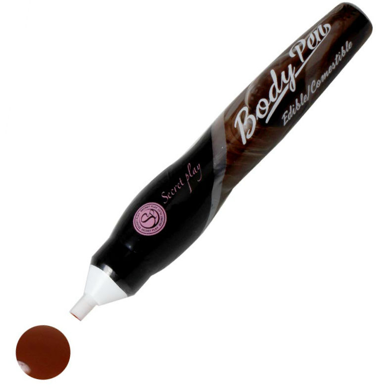body pen comestible sabor chocolate