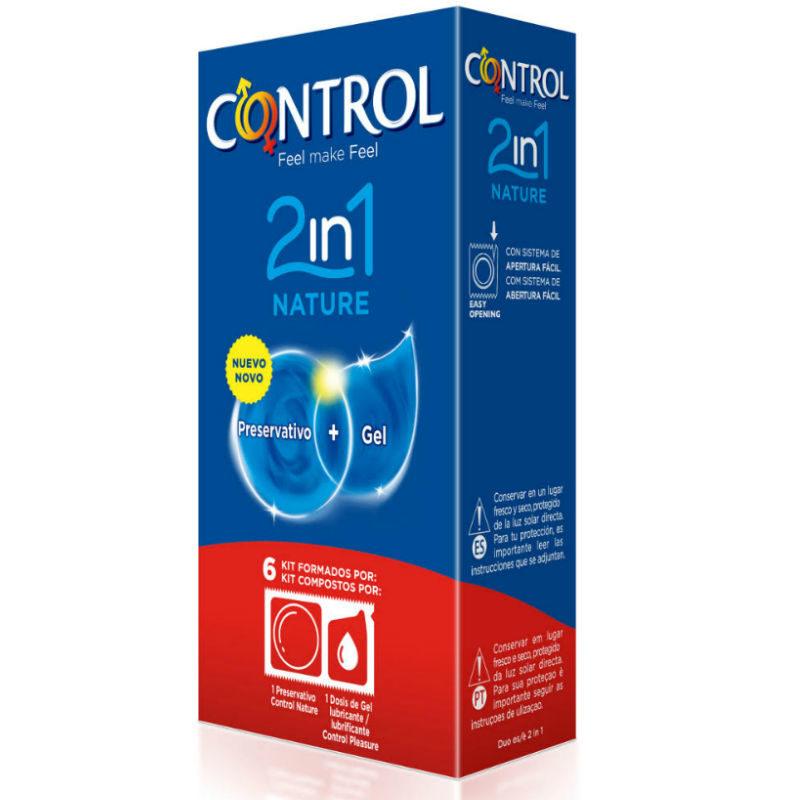 control duo natura lubricante+preservativo
