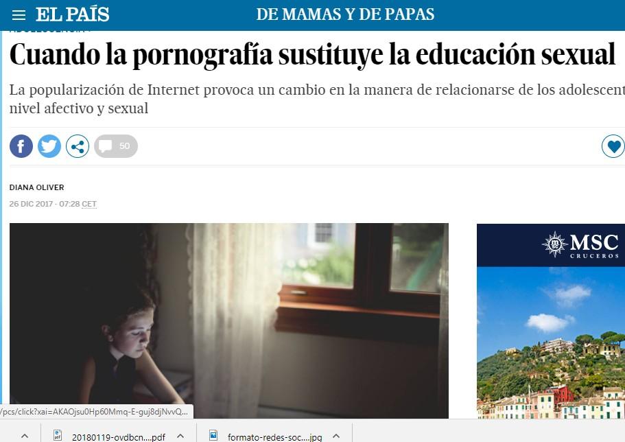 pornografia educación sexual nayara malnero el país