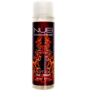 aceite de masajes efecto calor nuei coco