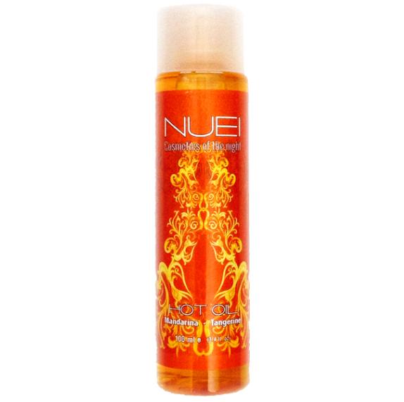 aceite de masajes efecto calor nuei mandarina