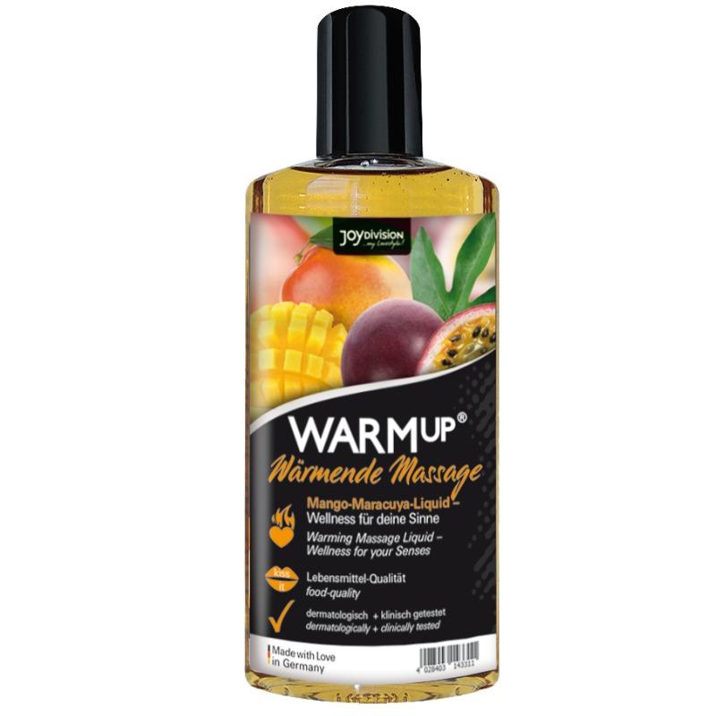 aceite de masaje efecto calor warmup mango-maracuya