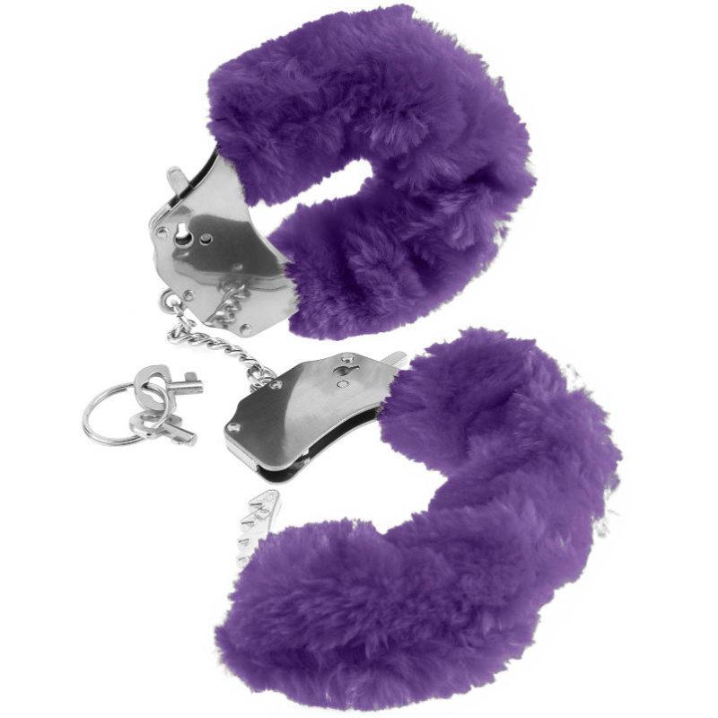 esposas de pelo color lila