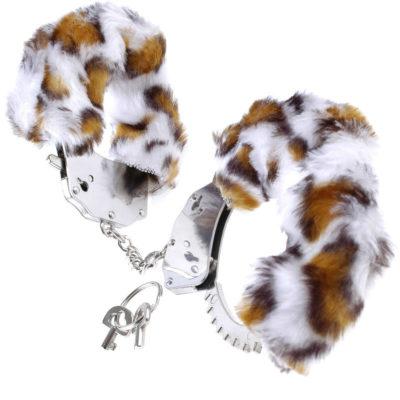 esposas de pelo leopardo blanco