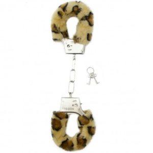 esposas furry con acolchado leopardo