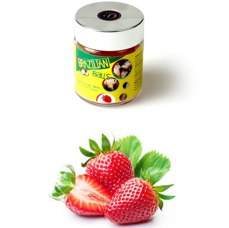 tarro brazilian balls lubricantes sabor fresa