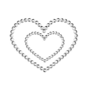 cubre pezones corazon plata