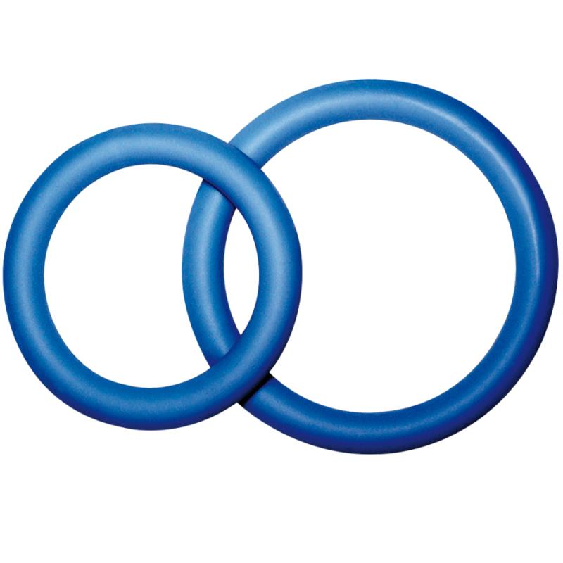 anillo doble para pene y testiculos color azul