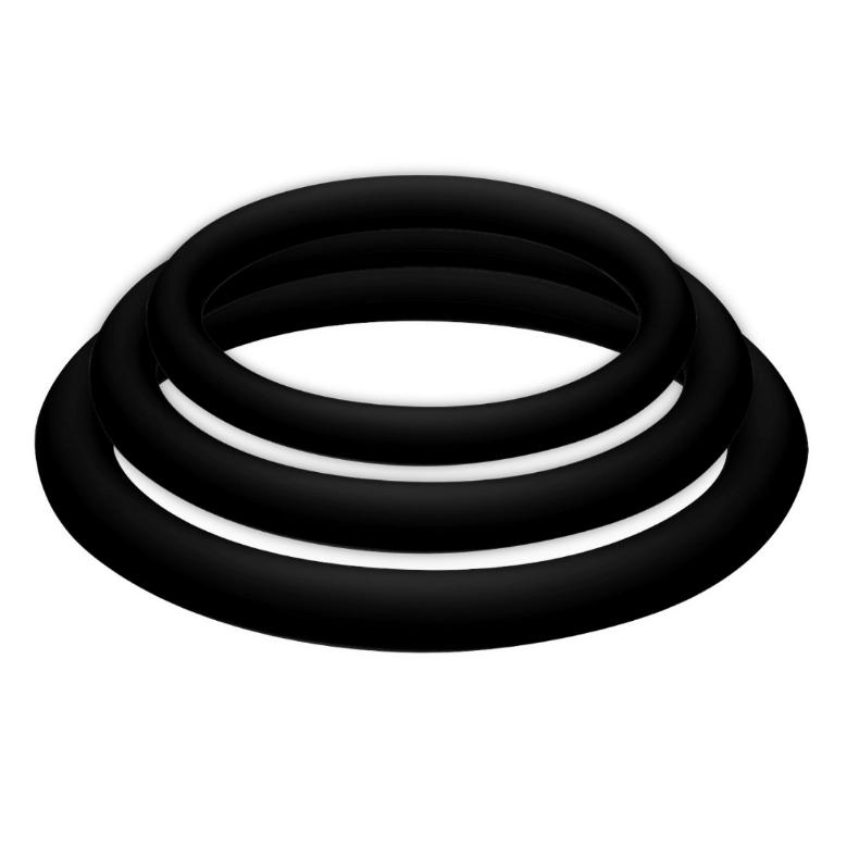 kit de 3 anillos para el pene color negro