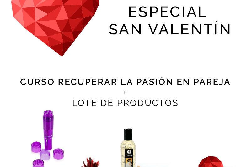 regalo san valentin - curso + lote de productos eroticos