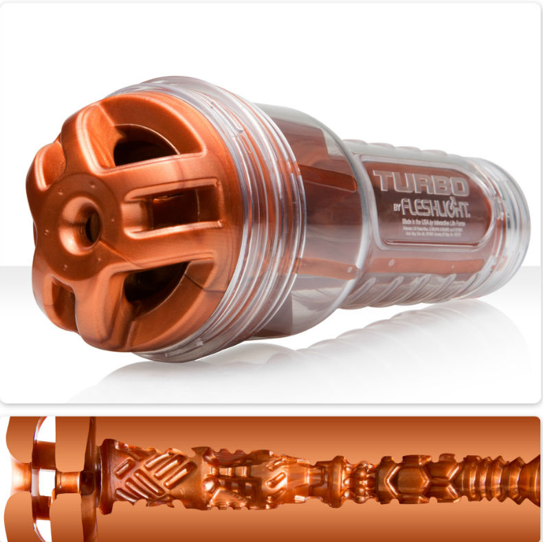masturbador masculino fleshlight turbo ignition cobre