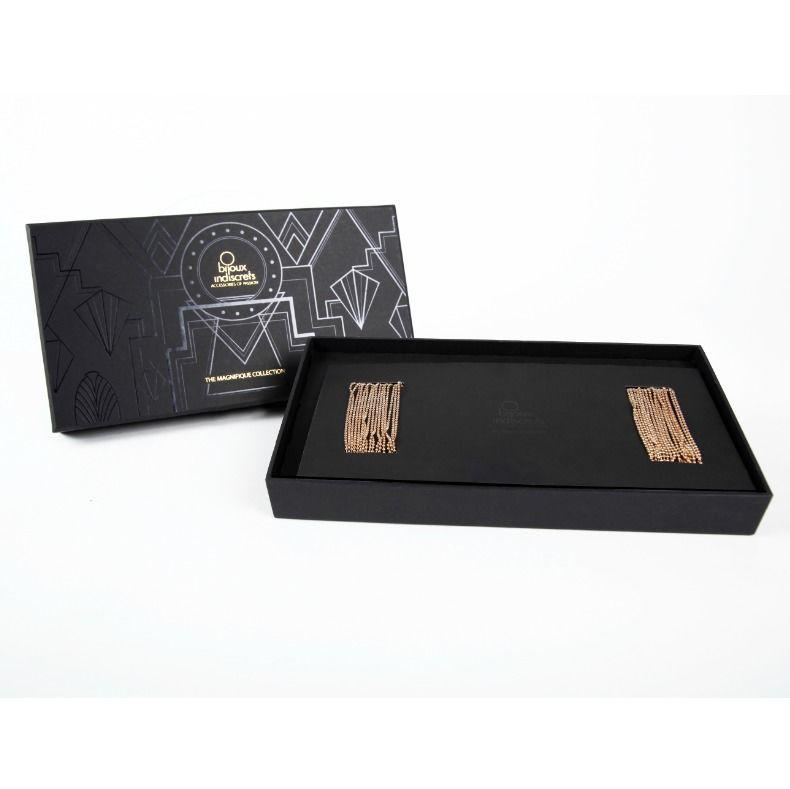 esposas pulsera dorado caja abierta